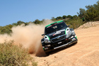 Hayden Paddon and John Kennard in action during shakedown for Rally Portugal. Photo / Honza Fronek