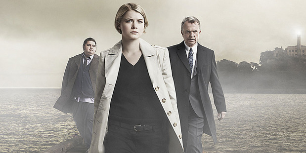Jorge Garcia, Sarah Jones and Sam Neill in the now-cancelled Alcatraz. Photo / Supplied