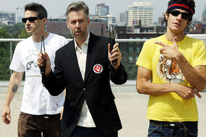 Mike D, left and Ad-Rock, right, have paid tribute to late Beastie Boys member Adam Yauch. Photo / Supplied