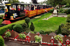 Everything in Legoland Billund is made from little plastic bricks - even the train. Photo / Supplied