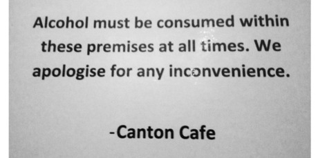 Sign at Kingsland's Canton Cafe. Photo / Supplied