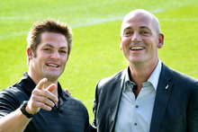 All Black captain Richie McCaw and Fonterra chief executive Theo Spierings. Photo / supplied