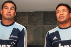 Blues head coach, Pat Lam (left) and Kevin Mealamu. File photo / Getty Images