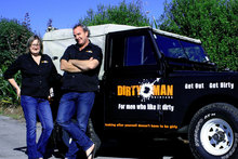 Mike Orange and wife Tracey - creators of DirtyMan blo