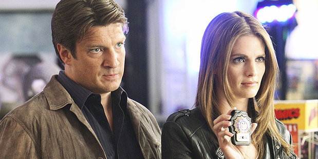 Nathan Fillion and Stana Katic from Castle. Photo / Supplied