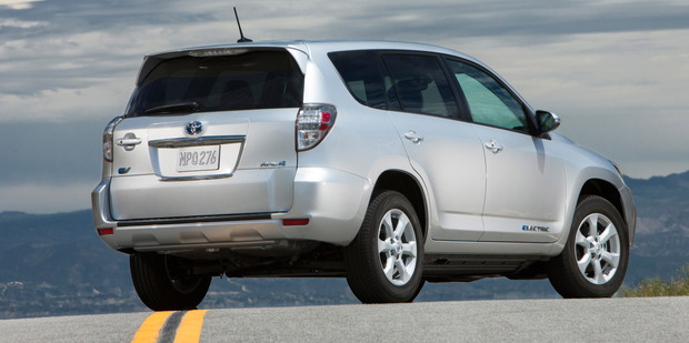 Toyota's RAV4 EV will only be sold in California initially. Photo / Supplied