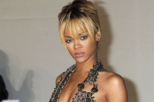 Rihanna was placed on a drip after being rushed to hospital following a party. Photo / AP