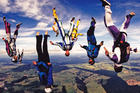 Skydiving over Taupo. Photo / John Lazo-Ron
