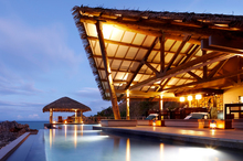 The pool at Tadrai Island Resort in Fiji. Photo / Supplied