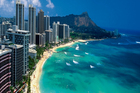 An aerial view of Waikiki Beach on the Hawaiian island of Oahu. Photo / Thinkstock