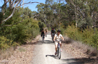 Cyclists on the Riesling Trail in South Australia's Clare Valley. Photo / AAP