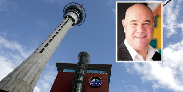 Sky City's former chief operating officer Stuart Wing (inset). Photo / Supplied
