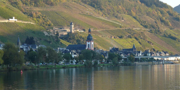Zell is an historic town on Germany's Mosel River. Photo / Ken Watkin