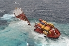 The Rena split into two pieces after a weekend of bad weather. Photo / Maritime NZ