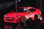 The Hyundai Genesis Coupe is unveiled at the North American International Auto Show in Detroit.