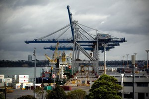 The Ports of Auckland, where industrial action has disrupted operations over the last few weeks. Photo / Dean Purcell