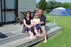 Steve and Deborah Taylor with Eden, aged 4. Photo / Supplied