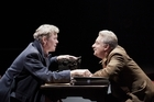 Alex Jennings as Mikhail Bulgakov and Simon Russell Beale as Stalin in Collaborators. Photo / Supplied