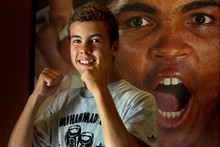 Mitchell Butler remians a big fan of Muhammad Ali, whom he and his father met in 2005. Photo / Brett Phibbs