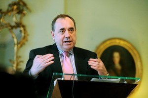 Alex Salmond, the First Minister and leader of the Scottish National Party. Photo / Bloomberg
