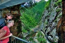 The Karangahake Gorge Historic Walkway follows an old railway track. Photo / Tourism Coromandel