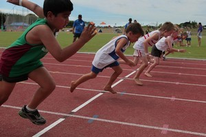 Children as young as 7 were disqualified for false starts. Photo / Warren Buckland
