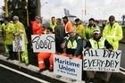Auckland's striking port workers will be consulting their lawyers this afternoon. File photo