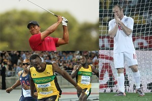 2012 will be a big year for Tiger Woods, Usain Bolt and Wayne Rooney. Photo / Getty Images