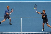 Daniel King-Turner and Michael Venus in action at the Heineken Open. Photo / Getty Images