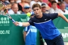 Ryan Harrison was leading Philipp Kohlschreiber when rain halted play. Photo / Getty Images