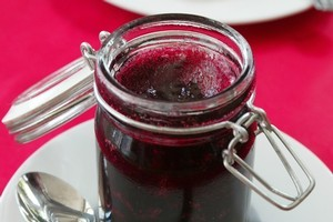The small, blue-black, pale-fleshed Damson is ideal for jam, preserves. Photo / NZ Herald
