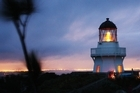 The lighthouse at Manukau Heads on the Awhitu Peninsula. Photo / Supplied