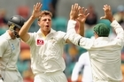 James Pattinson took a five-wicket bag on his test debut against the Black Caps. Photo / Getty Images