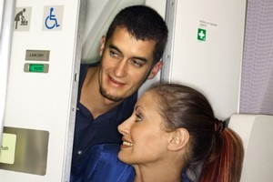 Three quarters of Aussies said they would happily move to another toilet if they saw a couple sneaking into a plane toilet together. Photo / Thinkstock