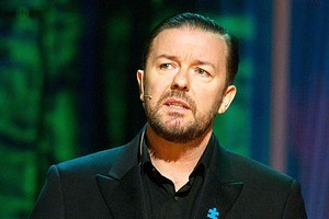 Ricky Gervais is causing some nerves among the stars appearing at the Golden Globes on Monday. Photo / Supplied