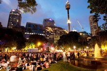 Many areas of Sydney's CBD were transformed into party zones during the Festival First Night event on Saturday. Photo / Supplied 