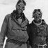 Edmund Hillary, (left) and Sherpa Tenzing Norgay after their ascent of Mount Everest in 1953. Photo / File