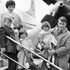 Sir Edmund and Lady Louise Hillary with Peter (7), Sarah (5) and Belinda (3) in Washington, March 1962. Louise and Belinda were killed in a plane crash in 1975. Photo / File