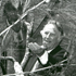 Sir Edmund Hillary visits the National Wildlife Centre at Mt Bruce with Lady June in 1992. Sir Edmund attempts to lure a kaka.  Photo / File