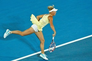 Caroline Wozniacki fell in three sets to Agnieszka Radwanska. Photo / Getty Images
