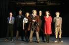 The cast of Tadpole Productions' The Lion in Winter (left to right), Brendan Lovell, Alex Walker, Emma Fenton, Erroll Shand, Elliot Wrightson, Louise Wallace, Daniel Bonner. Photo / Alex Olivier
