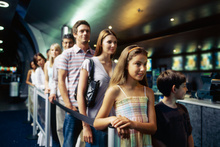 Disorganised movie ticket queues can be frustrating.