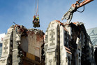 Partial demolition of the Christchurch Cathedral is already underway and a temporary