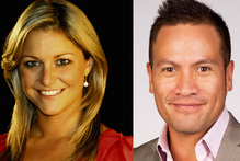 Toni Street and Tamati Coffey are teaming up to host Saturday Breakfast. Photo / Supplied