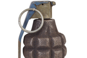 The grenade was found to be inert. Photo / Thinkstock