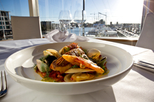 Roast gurnard at Kermadec Fine in the Viaduct Harbour. Photo / Dean Purcell