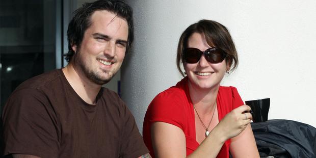 Matthew Hamilton and his friend Vanessa Wintle enjoy their drinks at ME. Photo / Janna Dixon
