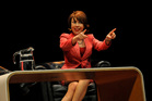 Novelist Nicky Lette delivered a polished comedy routine at the Writers and Readers festival last night. Photo / Supplied