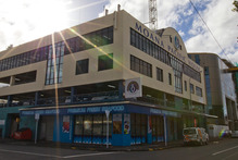 The Moana Pacific building will make way for the Waterfront Theatre. Photo / Greg Bowker