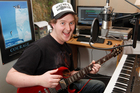 YouTube musician Matt Mulholland in his Wellington Studio. Photo / Mark Mitchell
